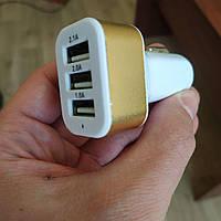 Автомобильное зарядное устройство Redax RDX-141 на 3 USB в прикуриватель (3100mA), фото 1