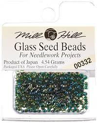 Бисер Mill Hill 00332, 11/0 Emerald Glass Beads