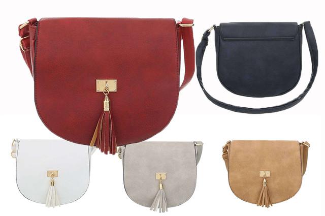 Купить женскую наплечну сумку-седло с кисточками (Европа) - интернет-магазин Denim Today