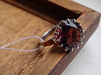 Шикарное Серебряное кольцо с золотой пластинкой и турмалином, фото 1