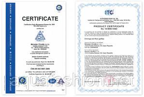 Сертификаты соответствия торговой марки MCH Чехия