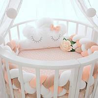 Овальная кроватка трансформер 12в1, Maxi + укачивание