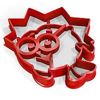 Вырубка для пряников Смешарик Ежик 9*8 см (3D)