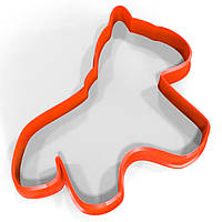 Вырубка для пряников Лошадка 12*10 см (3D)
