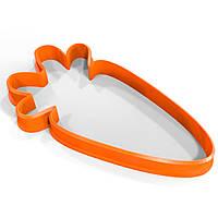 Вырубка для пряников Морковка 9*5 см (3D)