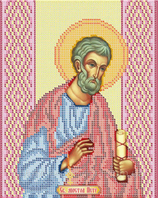 """Схема для вышивки бисером именная икона """"Святой апостол Петр"""""""