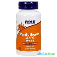 NOW Pantothenic Acid 500 mg (100 капс)  пантотеновая кислота витамин В5 б5 нау