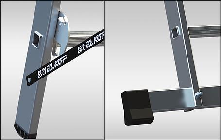 Лестница 2-х секционная ELKOP VHR T 2*7 (2х7 ст., 1.9-3.0 м), фото 2