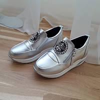 Снікерси срібні жіночі 40р