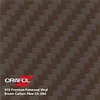 Карбоновая коричневая пленка Oracal 975 3D Carbon, фото 1
