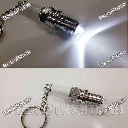 Брелок, свеча зажигания - фонарик, фото 2