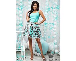 Ментоловое платье 21442, фото 2