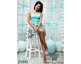 Ментоловое платье 21442, фото 3