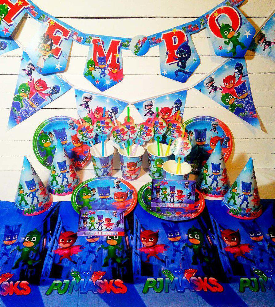 """Набор для детского дня рождения """"Герои в масках"""", комплект из 8 наименований УКР.ЯЗ"""