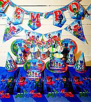 """Набор для дня рождения """"Герои в масках"""", комплект из 8 наименований УКР.ЯЗ"""