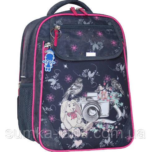 Детский школьный рюкзак Bagland Отличник с ортопедической спинкой (принт серый 210 к) 20 л