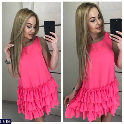 Розовое платье с воланами, фото 2