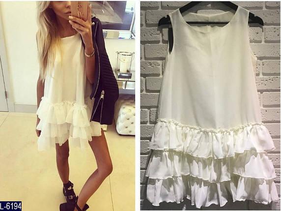 Белое платье с воланами, фото 2