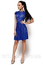 Женское гипюровое платье с коротким рукавом(Орионkr), фото 3