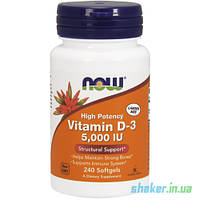 Витамины NOW Vitamin D-3 5000 IU (250 капс) нау витамин д3