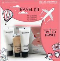 Дорожный набор Academie Visage - Travel Kit Académie (очищение + абрикосовый крем + молочко для тела)