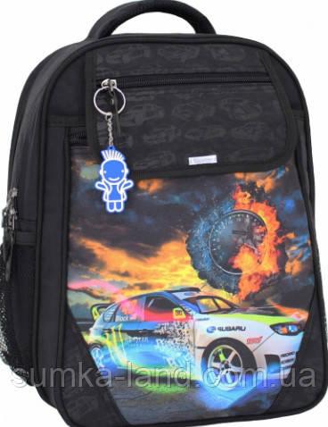 Детский школьный рюкзак для мальчика Bagland Отличник с ортопедической спинкой (принт черный 18 м) 20 л