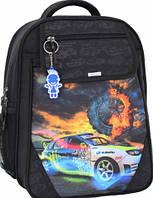 Детский школьный рюкзак для мальчика Bagland Отличник с ортопедической спинкой (принт черный 18 м) 20 л , фото 1