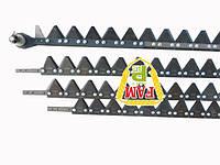 Нож жатки розборный из 4частей (болт) 9,0м Balmet с фиксатором 670406 + на сегментах Balmet 611203, 670469 Cl