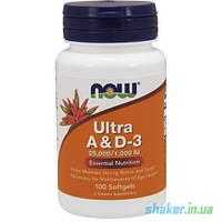 Витамины NOW Ultra A & D-3 (100 капс) витамин а и д3 нау