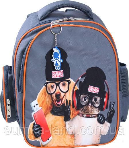 7bb483a46ad9 Школьный ортопедический рюкзак для мальчиков и девочек Bagland Pupil (принт  серый 188 к) 14