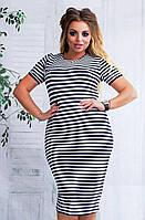 """Платье тельняшка """"Stella"""": большие размеры"""