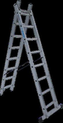 Лестница 2-х секционная ELKOP VHR T 2*8 (2х8 ст., 2.16-3.47 м), фото 2