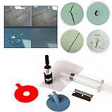Набор клей инструмент для удаления сколов и трещин на лобовом стекле, полимерный, фото 4