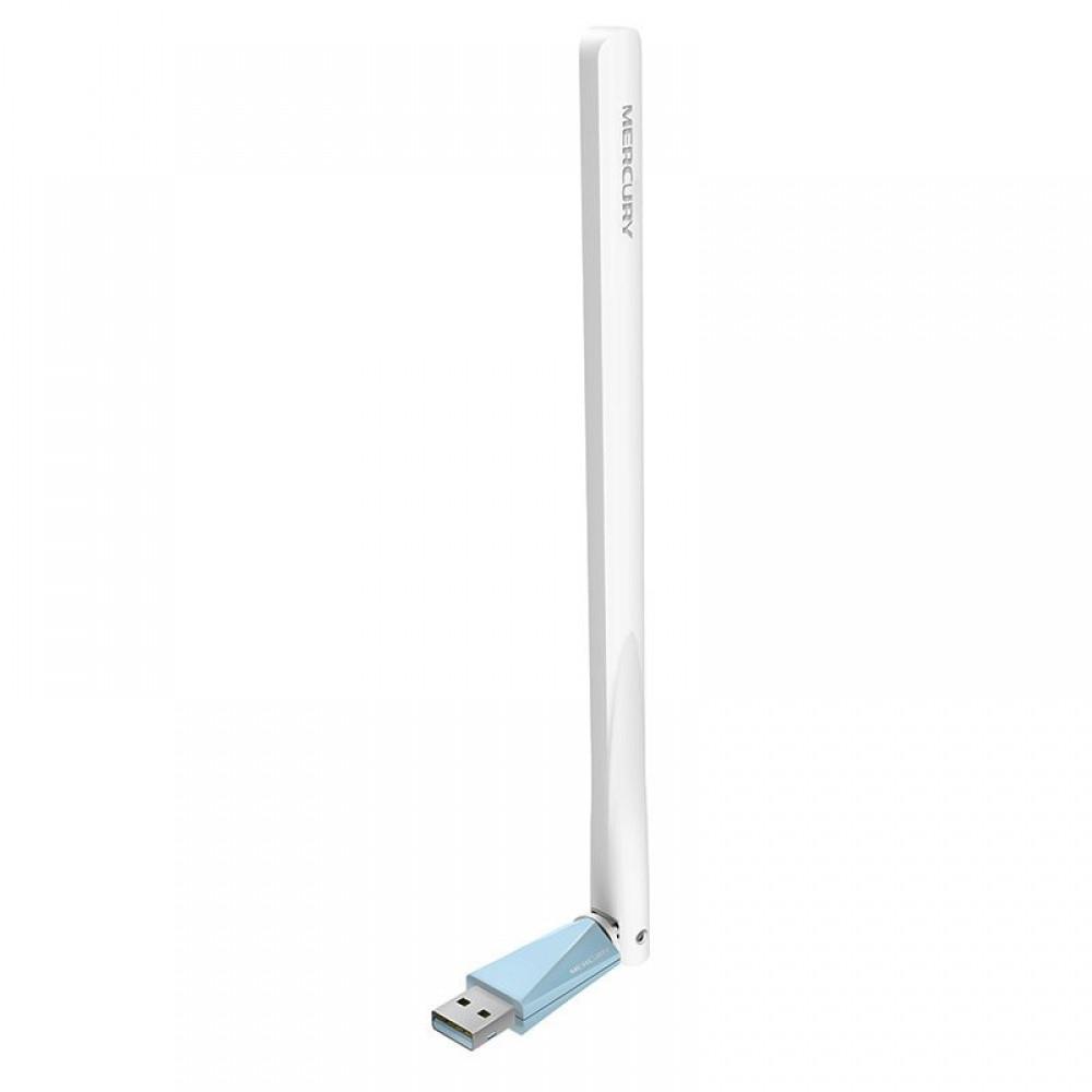 Беспроводной сетевой адаптер с антенной Wi-Fi-USB MERCURY MW150UH, 802.11bgn, 150MB, 2.4 GHz