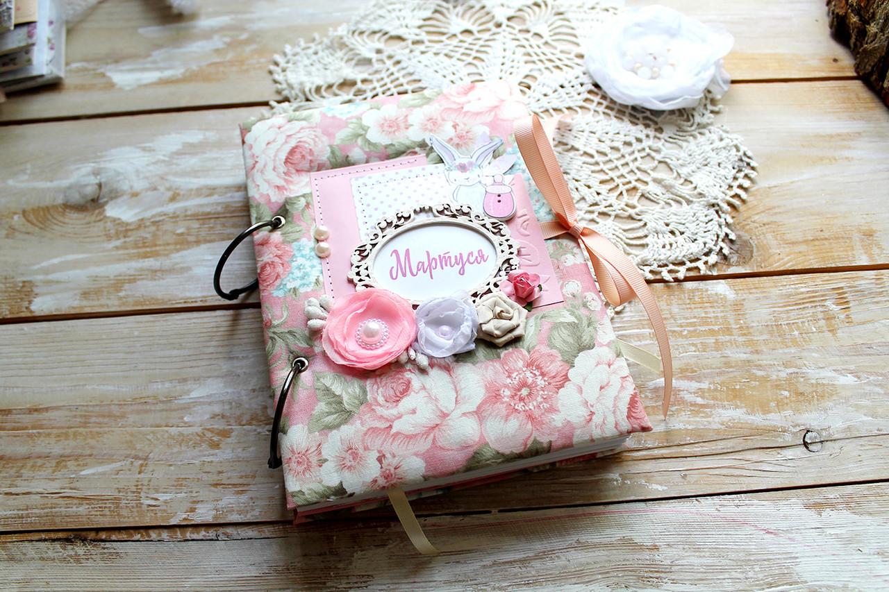 Мамины заметки, Baby book для девочки, 200 цветных, плотных страниц