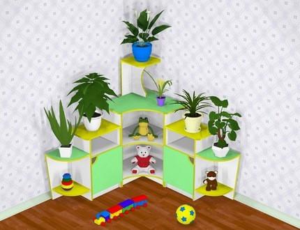 Детская угловая стенка для игрушек Design Service Уголок живой природы (668)