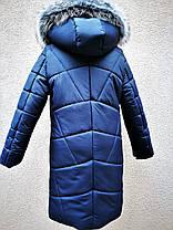 Зимнее стеганое пальто для девочки, фото 3