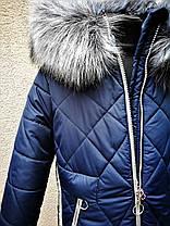 Зимнее стеганое пальто для девочки, фото 2