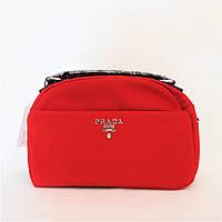 Прекрасная женская сумочка PRАDА красного цвета YТP-080009, фото 1
