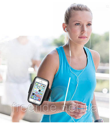 """Чохол на руку під смартфон 5,5"""" для бігу, велоспорту, фото 2"""