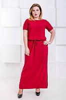 Летнее платье макси большого размера Гарсия марсала (46-60), фото 1