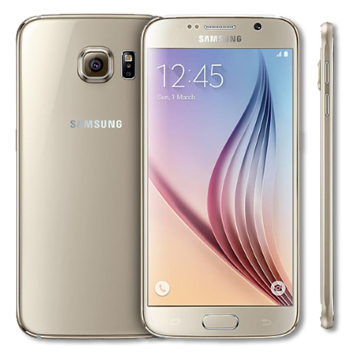 "Смартфон Samsung Galaxy S6 SM-G920P 3/32GB CDMA/GSM Gold, 16/5Мп, 5.1"" AMOLED, 1sim, 4G (LTE), 2550mAh"