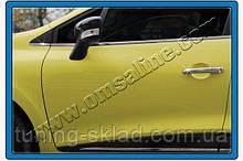 Хром накладки на дверные ручки Renault Clio IV 2012+  (Рено Клио)