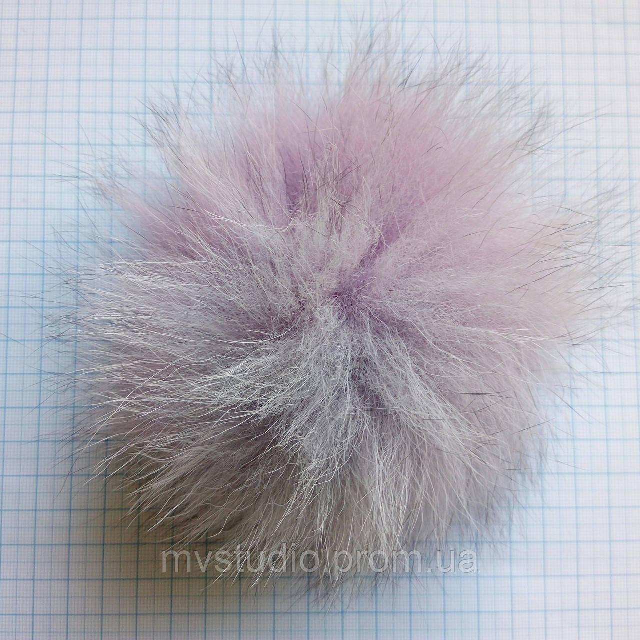 Помпон из натурального меха песца - 13 см