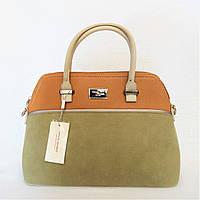 Женская сумочка DAVID DJONES цвета хаки LCR-248095, фото 1