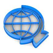 Вырубка для пряников Глобус 8*7 см (3D)
