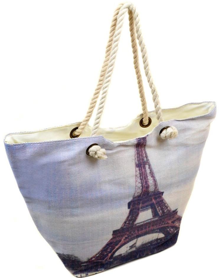 Женская пляжная сумка PC 9140-1 grey печать пляжные сумки, пляжные корзинки  недорого Одесса 7 км cb4f099ec62