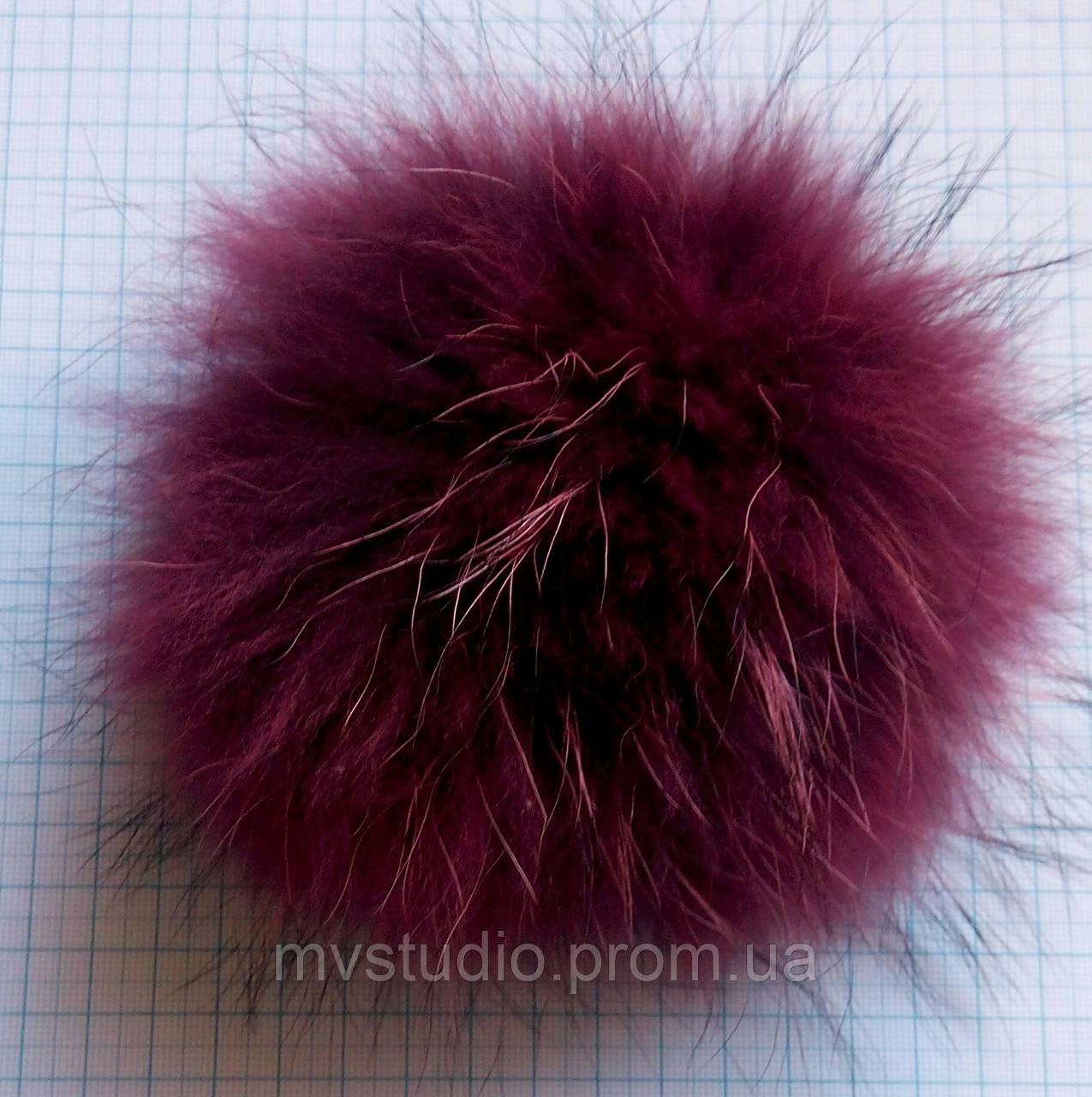 Помпон из натурального меха енота - 16 см