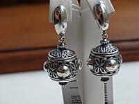 Новинка! Вінтажні сережки срібні, фото 1
