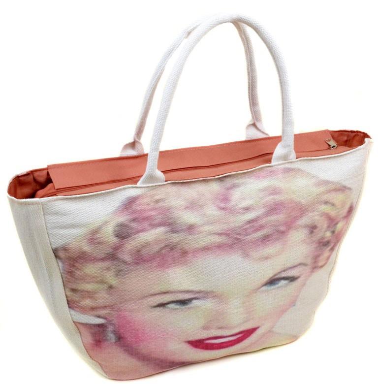 ec8a69054839 Женская пляжная сумка PC 9139-1 white печать пляжные сумки, пляжные  корзинки недорого Одесса 7 км